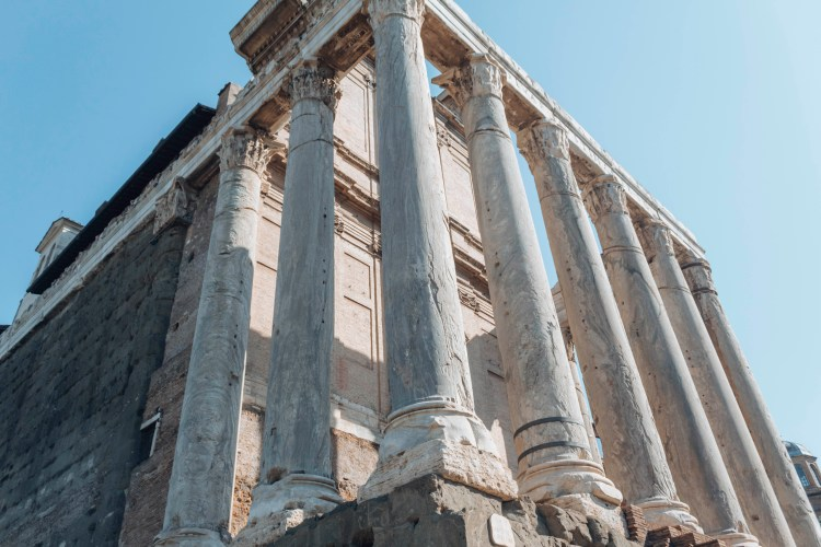 Temple of Antoninus and Faustina- architecture in Rome Italy