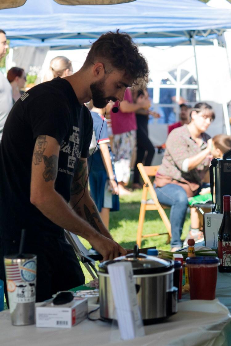 vegan chili food demonstration