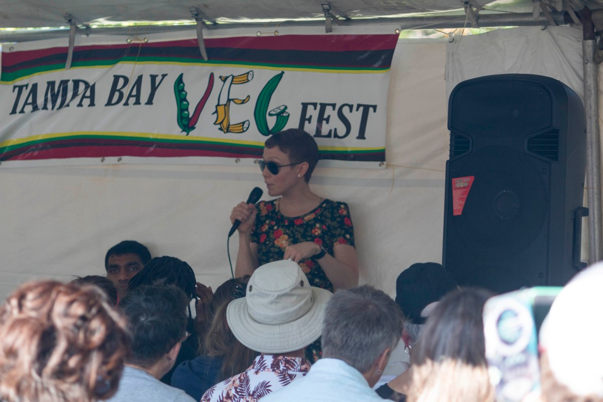 speaker at Tampa Bay Veg Fest