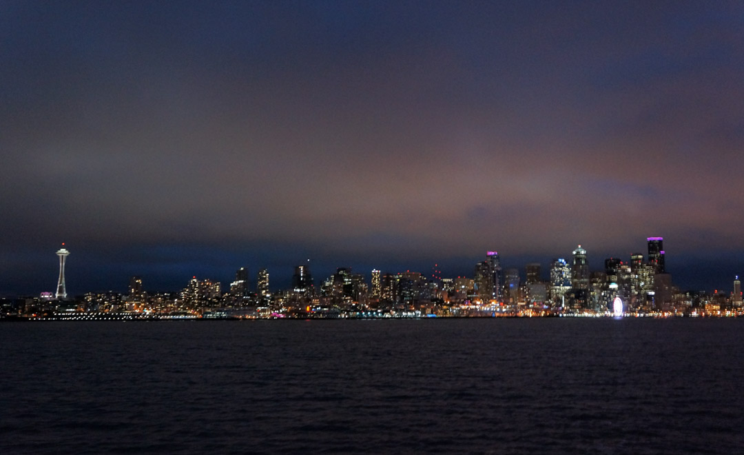Seattle night skyline