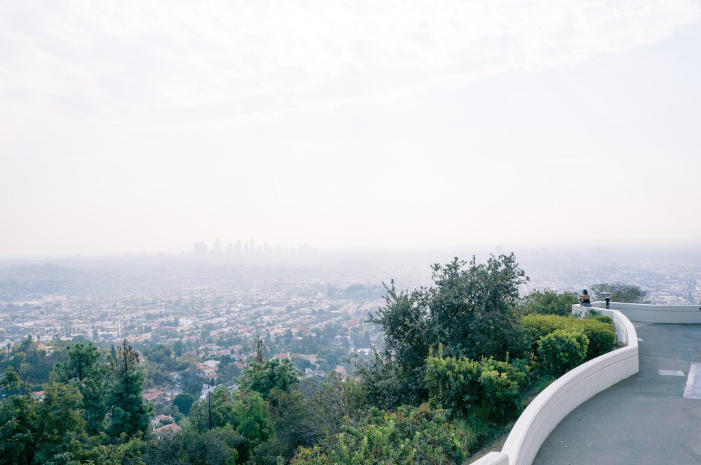 views of downtown from griffith observatory