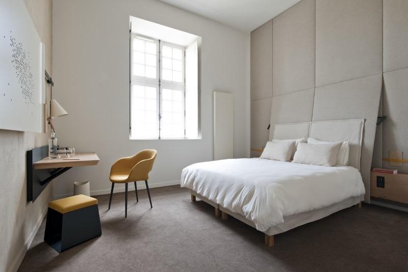hotel room at abbaye royale de fontevraud