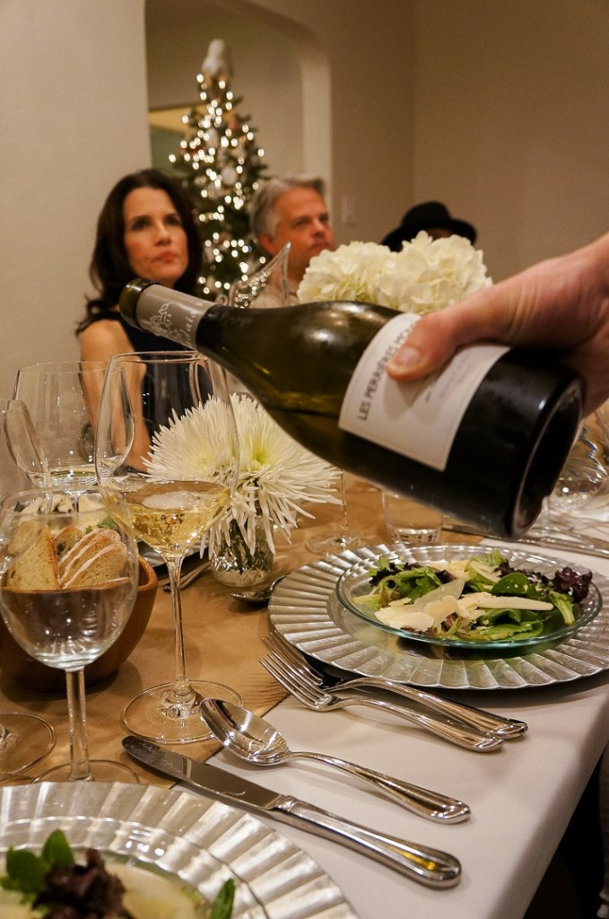 french muscadet wine served with salad course