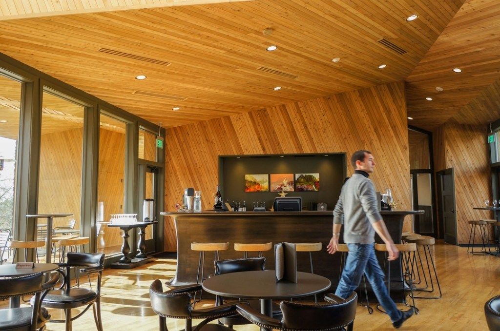 wood paneling at sokol blosser willamette valley