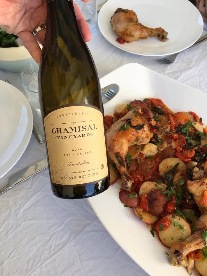 chamisal pinot noir with chicken