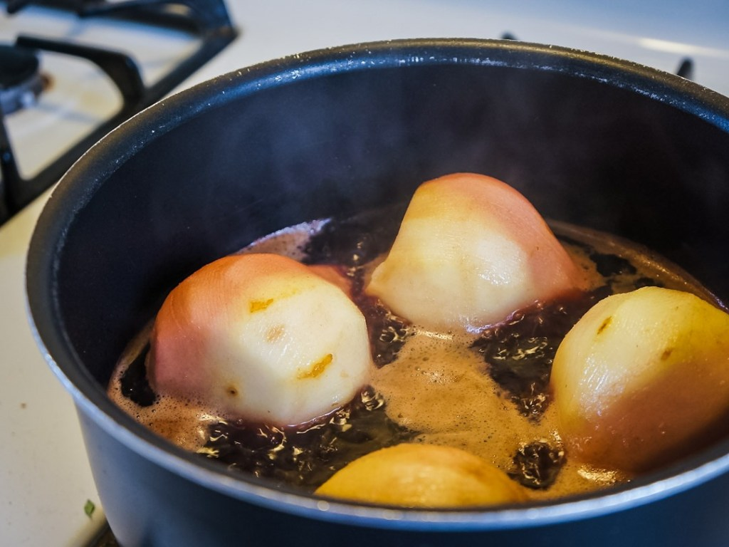 poached pears for dessert