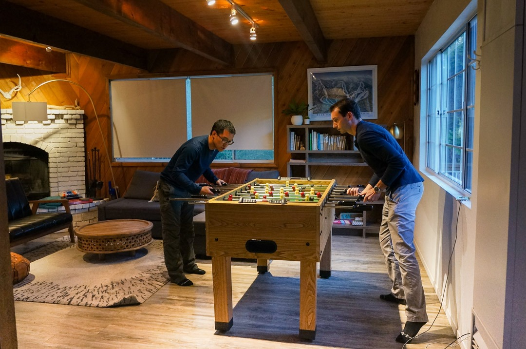 Foosball in the Cabin