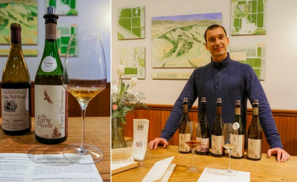 eyrie vineyards wine tasting