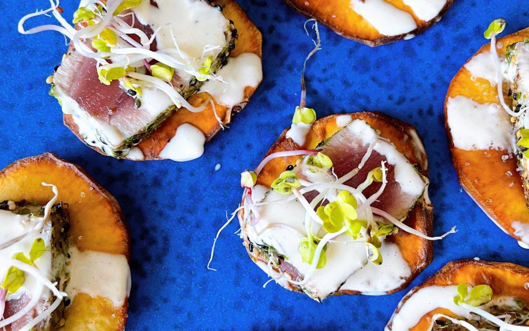 Yuzu Ahi Tuna with Potato Crisps