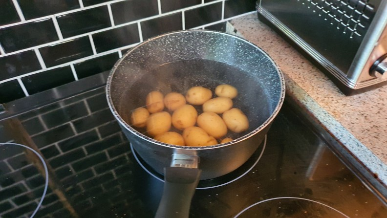 A pan of new potatoes