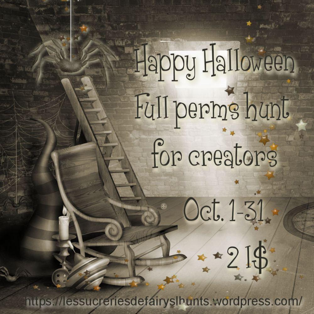 ★* *★ Happy Halloween Full perm hunt for creators ★* *★
