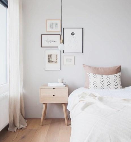Bedroom with light pink tones