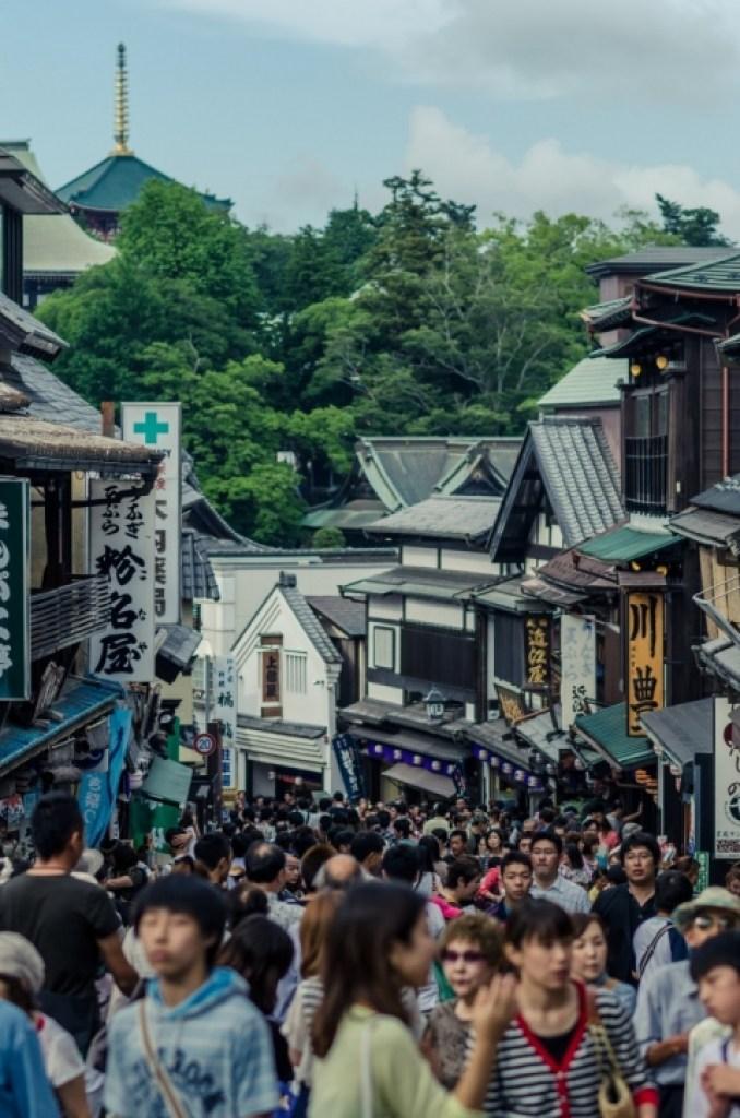 Crowds at Narita Gion Matsuri