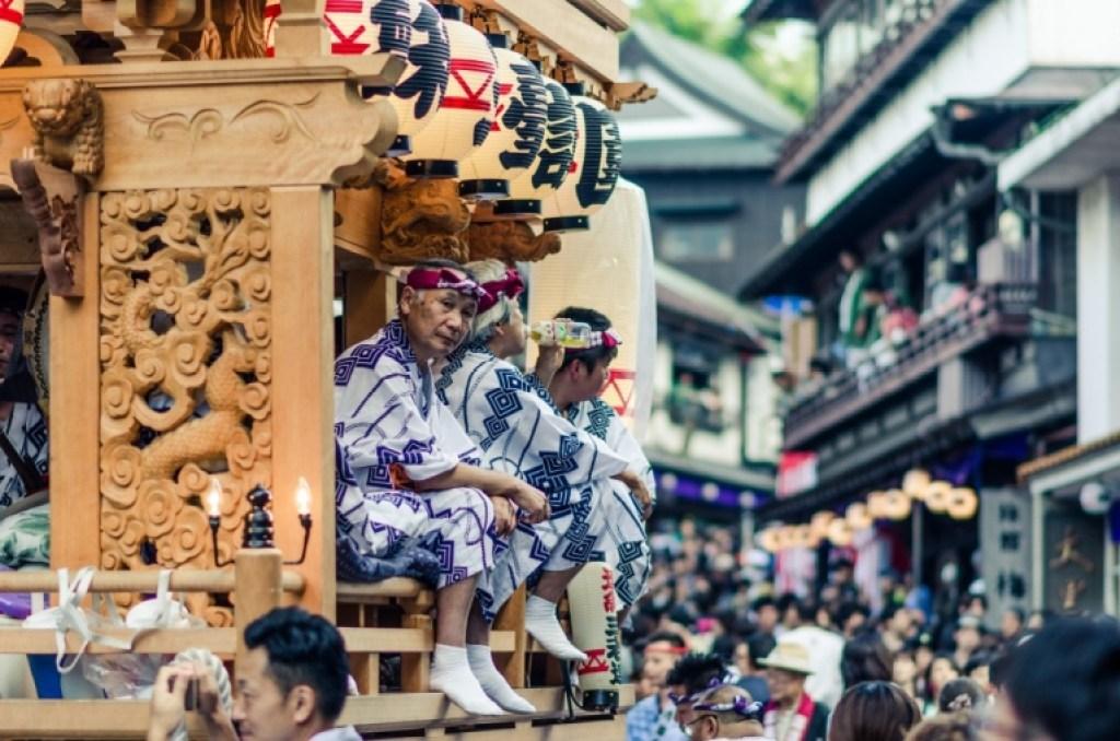 Older men at japanese festival