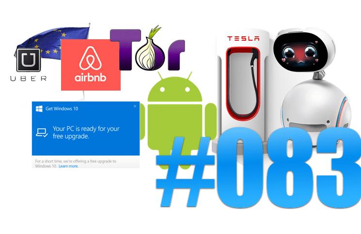 #83: Asus avec Zenbo, Microsoft et Xiaomi, SSD Samsung, Tor 6.0, Uber et l'Europe, FRITZ!OS 6.50
