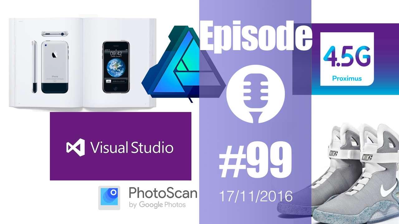#99: Un»beau livre» Apple, Font Awesome Pro, Google PhotoScan, Visual Studio pour Mac, LPWA, Affinity Designer, SprayPrinter