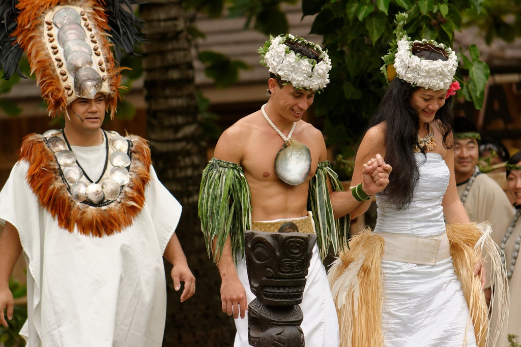 mariage polynésie robe