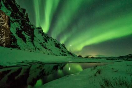 aurore boréale norvège pressing robe mariage hivernal