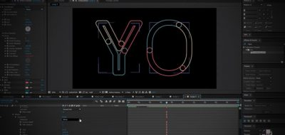 after effects kinetic type