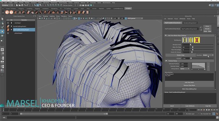 Creating Hair From Polygon Strips With Ornatrix For Maya