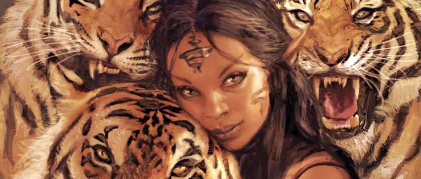 """Selvala's Beastmaster"" by Iain McCaig"
