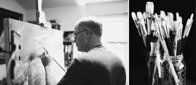 Lester Yocum in his Studio