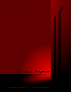 Welltower Poster: Doubting is Dangerous Wall