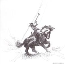 Sketch of a Frank Frazetta Character