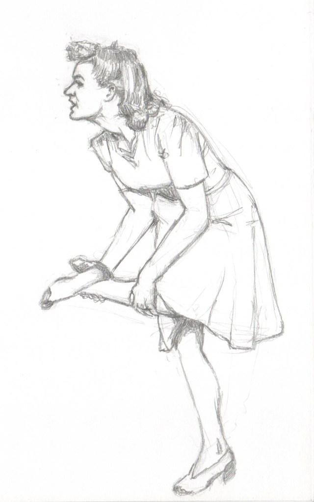 Girl with Sore Feet