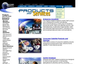Early Hughes Network Systems Webpage