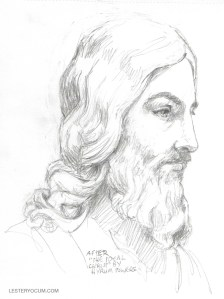 """Measurements Sketch from """"The Ideal Christ"""""""