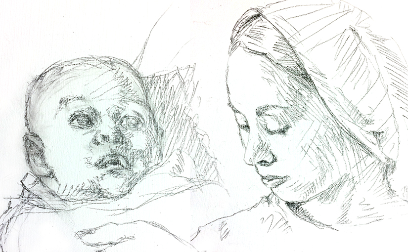 Mary and Child Sketches Featured Image