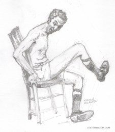 Sketch of Normal Rockwell Surprised