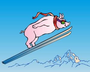 Ski Jump Pig
