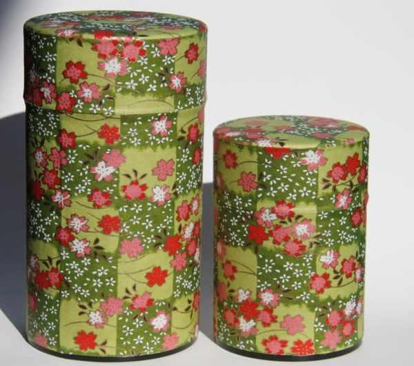 Boîte en métal recouvert de papier washi fabriqué au Japon