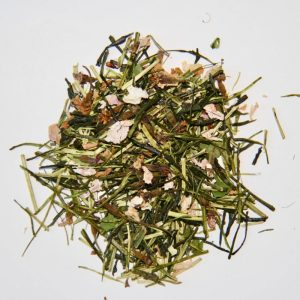 Thé vert organique parfumé naturellement aux fleurs de cerisiers du Japon