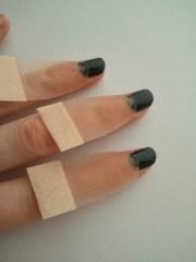 diy moon shaped nails lesthetiquemadeline