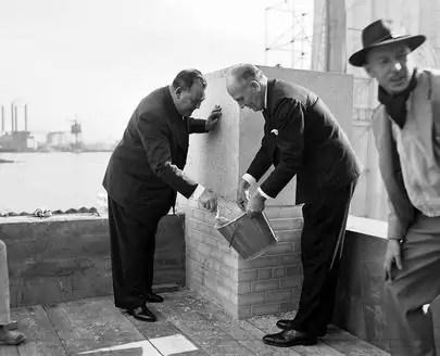 Posa della prima pietra del quartier generale delle Nazioni Unite