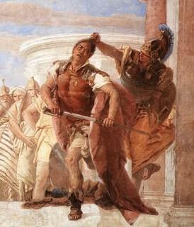 Tiepolo: Atena impedisce ad Achille di uccidere Agamennone  (particolare)