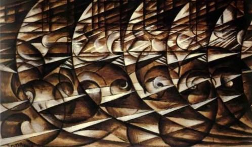 Giacomo Balla, Espansione dinamica + velocità (1913)