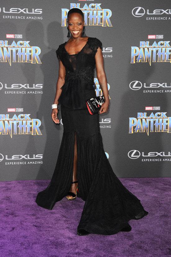 Florence Kasumba Premiere of Black Panther