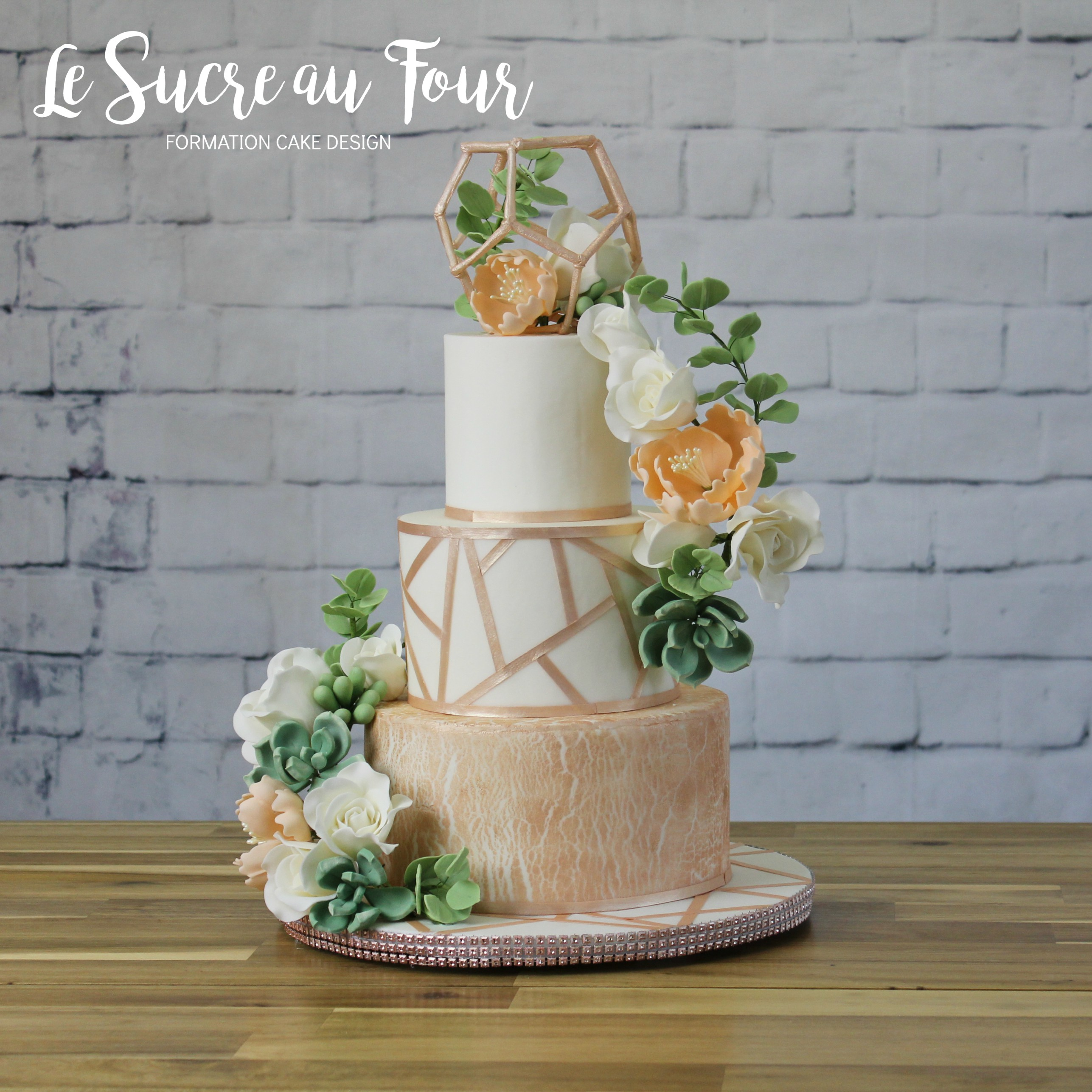 Cours De Cake Design En Ligne Gateau Rose Gold Le Sucre Au Four