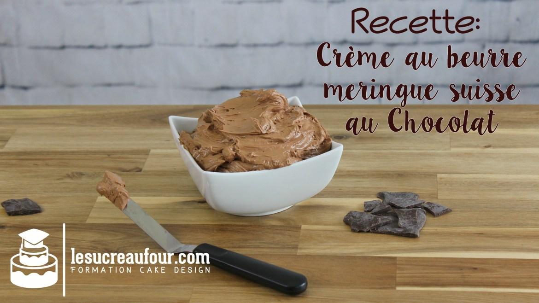 crème au beurre meringue suisse au chocolat
