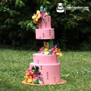 cours cake design tropical
