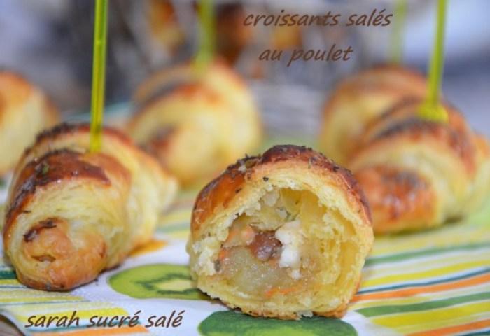 Croissants Salés Au Poulet Le Sucré Salé Doum Souhaib