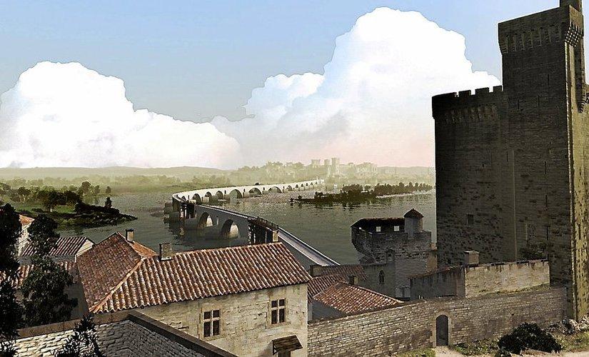 La reconstitution du pont d'Avignon en 3 D époustouflant!
