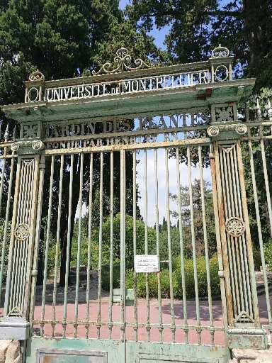 entrée principale du Jardin des plantes à Montpellier