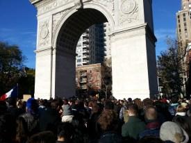 Whashington Square - rassemblement suite aux attentats de Paris