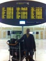 Baballe et moi à l'aéroport !!!