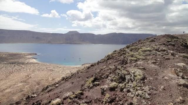 Lanzarote, vue du volcan de Graciosa